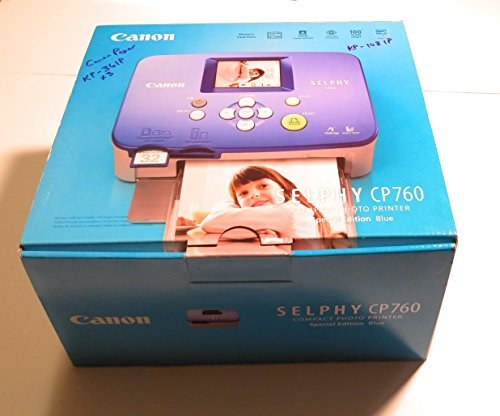 Canon Selphy CP760 Compact Photo Printer (Blue)