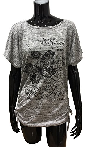 Emma & Giovanni - Top / Camiseta - Mujer Gris