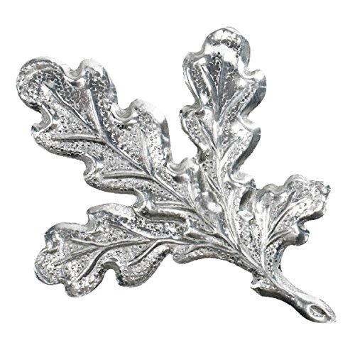 Decoy Wild boar trophy plate metal oak leaf