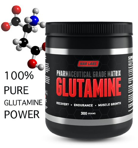 NAR LABS Glutamine Matrix 300 grams, Natural