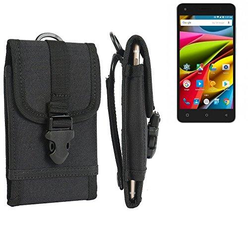 bolsa del cinturón / funda para Archos 50b Cobalt Lite, negro   caja del teléfono cubierta protectora bolso - K-S-Trade (TM)
