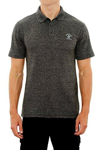 lub Men\'s Pique Polo with Horse Logo, Black Marled, Small' (Club Pique Polo Shirt)