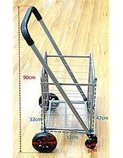 Large Folding Shopping Cart Swivel Front Wheels Oversize Back Wheels Sponge Handle