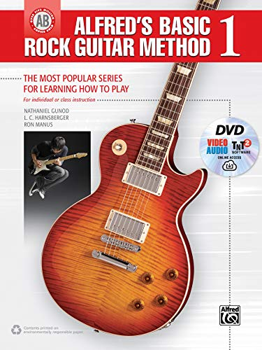 Alfred's Basic Rock Guitar Method, Bk 1: The Most Popular Series for Learning How to Play, Book, DVD & Online Video/Audio/Software (Alfred's Basic Guitar Library)