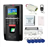 Product review for Complete Biometric Kits Fingerprint RFID Access Control System 600Lbs Magnetic Lock TCP/IP Time Attandance