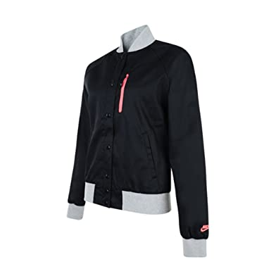 0967695dc80e Nike Womens Destroyer Zip Baseball Varsity Style Jacket Coat. Black   Pink  (426747-