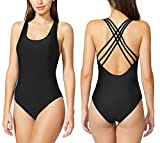 HOYEER Women's Sexy Cross Swimsuits One Piece Retro Back Bathing Suits