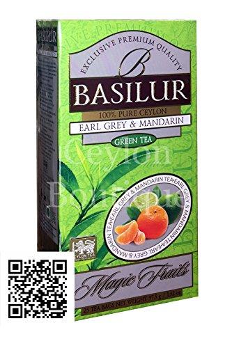 (Basilur Magic Fruits - Earl Grey & Mandarin Falvored Ceylon Tea in 25 Tea Bags)
