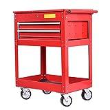 Metal Rolling Tool Cart 2 Drawer Cabinet Storage ToolBox Portable Mechanic Lock Bonus free ebook By Allgoodsdelight365