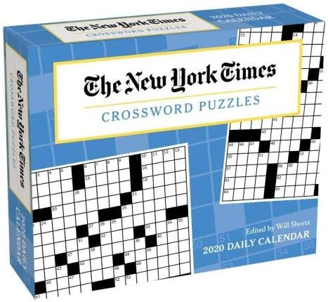 Amazon Com 2020 New York Times Crossword Puzzle Page A Day Box Daily Desk Calendar Everything Else