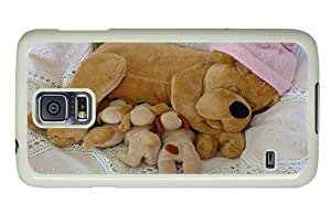 Hipster Samsung Galaxy S5 Cases leather dog puppy toys PC White for Samsung S5