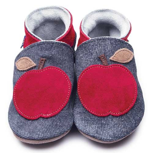 Inch Blue Krabbelschuhe Apple Dark Denim, Child Medium