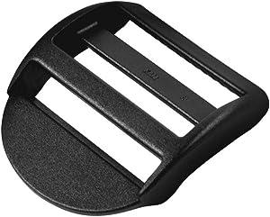 GRASS Tension Locks Plastic Webbing Strap Ladder Slider Buckles Lock (1.96 Inch,Black,6 PCS)