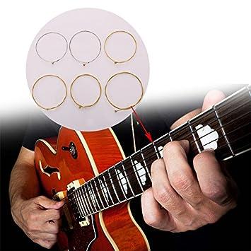 Forfar 6 piezas Guitarra de cuerdas Cuerda de heavy metal popular Steel Studios E30 Musical Guitarra eléctrica Accesorios de cantante: Amazon.es: Deportes y ...