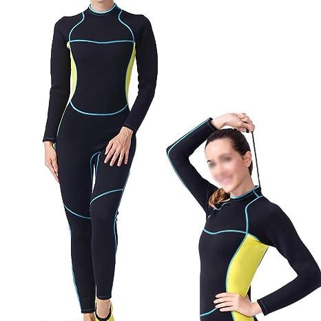 Traje de buceo de neopreno para mujer de 3 mm, traje de baño traje ...
