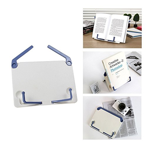 Portable Table Reading Sheet Adjustable Book Music Document Stand Artwork Stand Holder Bookcase, White
