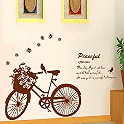 60*80cm Romantic room wall stickers removable creative sticker bicycle home decor wallpaper