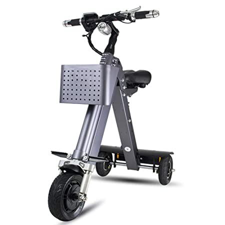 LTLSF Triciclo Eléctrico Plegable para Adultos, Mini Scooter ...