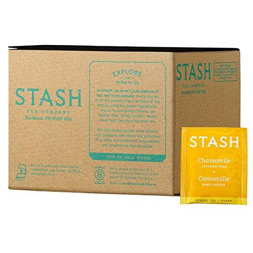 Stash Tea Chamomile Herbal Tea 100 Count Box of Tea Bags, Premium Herbal Tisane, Sweet Soothing Herbal Tea, Enjoy Hot or Iced