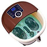 Foot Spa Massager with Heat and Jets and Motorized Rollers - Heating, Rolling Massage, Shiatsu Feet Massage - Home Spa Bath