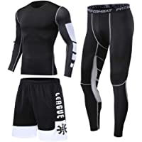 1Bests Hommes 2 Pi/èces Camouflage Fitness Sportswear Running Training Collants Speed Drying Coat Set