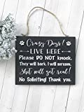 Best No Soliciting Signs - Crazy Dogs Live Here, Crazy Dogs Sign, No Review