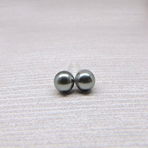 Simulated Earrings Plastic Sensitive Charcoal product image