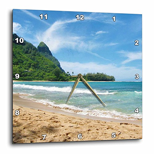 3dRose dpp_45292_2 Blue Ocean-Hawaii-Tropical Photography-Wall Clock, 13 by 13-Inch by 3dRose