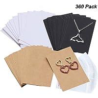 Amajoy 360 Piezas Collar Pendientes Exhibidor Tarjetas