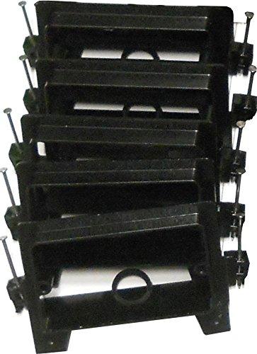 Arlington LVN1 Low Voltage Mounting Bracket W/ Nails, 1-Gang, Black, - Gang Nail