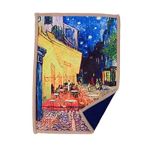 Lynktec Smartie Microfiber Cleaning Cloth for iPad and Touch Screen (Cafe Terrace Van Gogh)