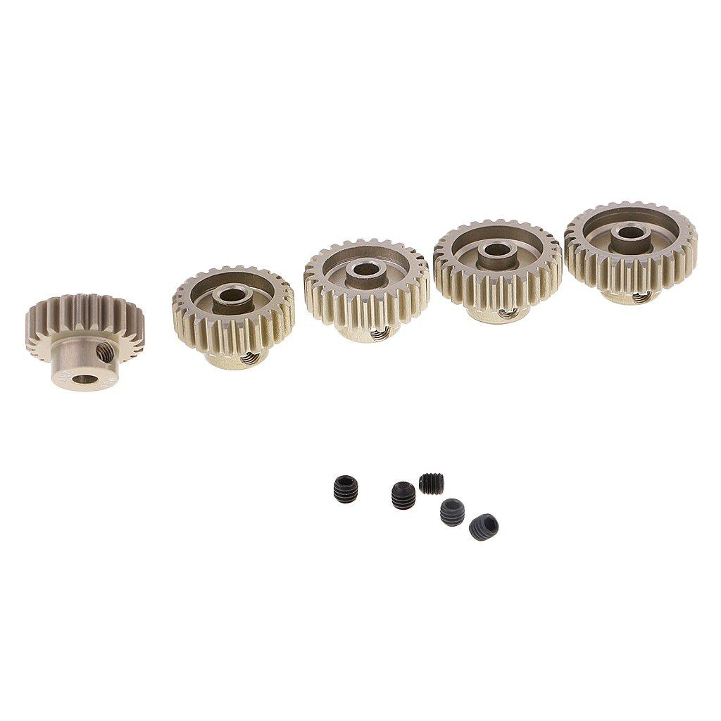 sharprepublic Motor Pi/ñ/ón De Engranajes M0.6 23T-27T 3.175mm Di/ámetro del Eje para 1//10 1//8 RC Cars