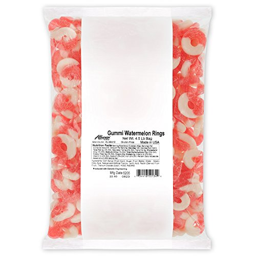 Albanese Candy, Gummi Watermelon Rings, 4.5-pound Bag