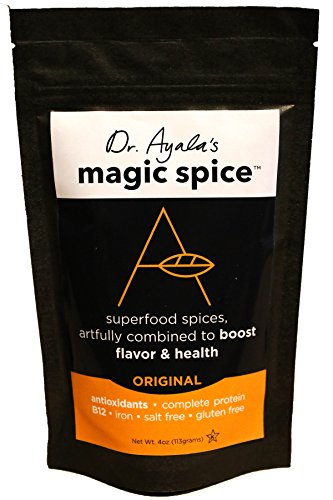 Veg Protein Booster - Dr. Ayala's Magic Spice, (Original) Superfood Seasoning, Flavor Booster, Turmeric, Nutritional Yeast, B12, Antioxidants, Salt-Free, Vegan Seasoning, Non GMO, No MSG, Gluten-Free, Kosher (4 Ounce)