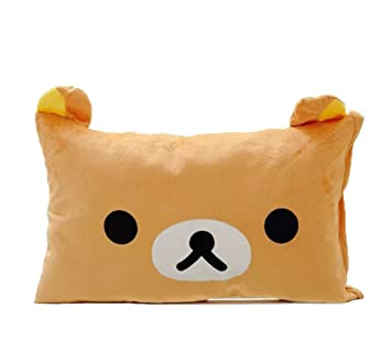 Amazon.com: Rilakkuma relajarse Bear Brown Funda de almohada ...