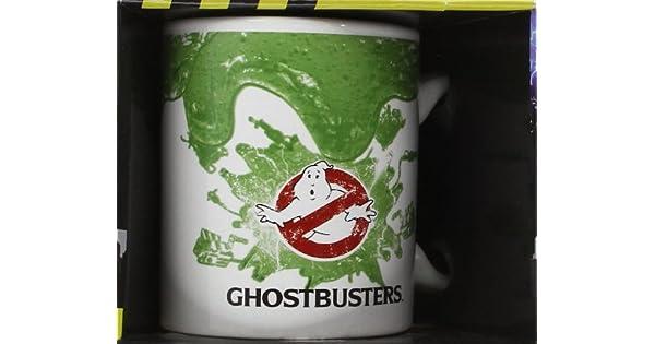 Ghostbusters Pyramid International MG22338 - Taza de Desayuno con diseño de Los Cazafantasmas (cerámica, Capacidad 240 ml), Color Blanco y Verde - ...