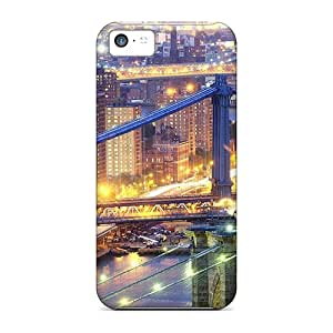 For Iphone 5c Protector Case Nyc Bridges In Lights Hdr Phone Cover