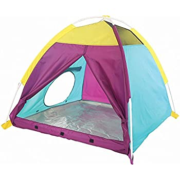 """Pacific Play Tents Kids My First Fun Dome Tent - 42"""" x 42"""" x 36"""" - Purple/Blue/Yellow"""