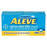 ALEVE Pain Relief Caplets, Up To 12-Hour Relief, Naproxen Sodium 220mg, 100 Caplets