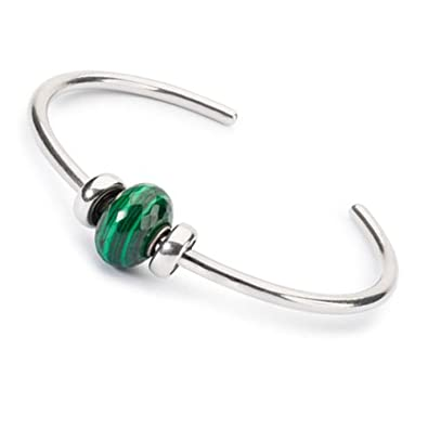 6e779faea0c35 Amazon.com: Trollbeads 925 Green Malachite Stone Bead Bangle Wishful ...