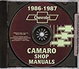 COMPLETE & UNABRIDGED 1986 1987 CHEVROLET CAMARO 2 VOL. FACTORY REPAIR SHOP & SERVICE MANUAL INCLUDES: Standard Camaro, Coupe, Berlinetta, Z28, RS, Convertible, and IROC-Z 86 87