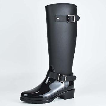 Frauen Neue Stilvolle Regen Stiefel, Frauen Wasserdichte Rutschfeste Stiefel Regen Stiefel Erwachsene Stiefel Regen Stiefel (Farbe : B, Größe : 36#)