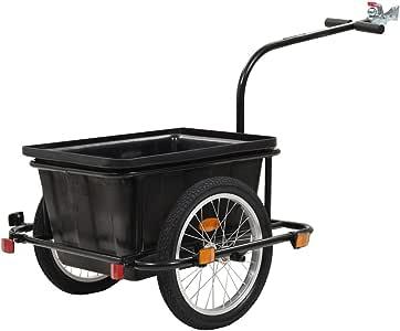 vidaXL Remolque de Carga para Bicicletas Tráiler Caravana Carreta ...