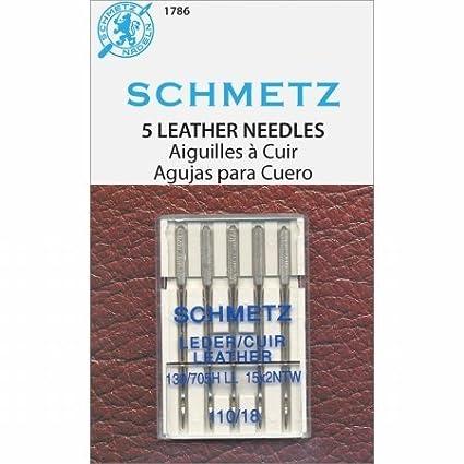 Amazon.com: euro-notions 1786 Piel Máquina needles-size 110 ...