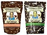 Newman's Own Organic Breakable Medium Dog Treats 2 Flavor Variety Bundle: (1) Newman' Own Turkey & Sweet Potato, and (1) Newman's Own Salmon & Sweet Potato, 10 Oz. Ea. (2 Bags Total)