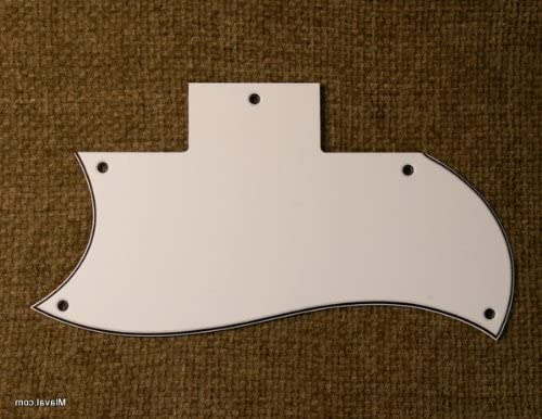 A60 3 Ply LEFT HANDED Pickguard Fits SG Standard Guitar WHITE