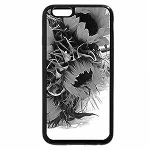 iPhone 6S Plus Case, iPhone 6 Plus Case (Black & White) - SunFlowers for September