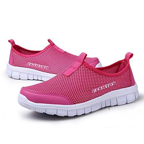 léger Écraser Femmes Mode Hommes Rose Rouge adolescents Chaussures Baskets les Pour QZBAOSHU Poids 6zOBxE