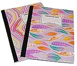 Swirl and Glitter Composition Book Sets (2 pk) (purple swirl)