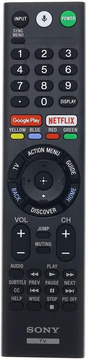 Replacement Remote Control Controller for Sony XBR-100Z9D XBR-65X900E XBR-75X900E 4K HDR Ultra HD TV